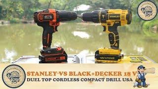 Bingung Pilih Mesin Bor Cordless Hammer Drill Black Decker BDCHD18K VS Stanley SCH20C2K 18V ?