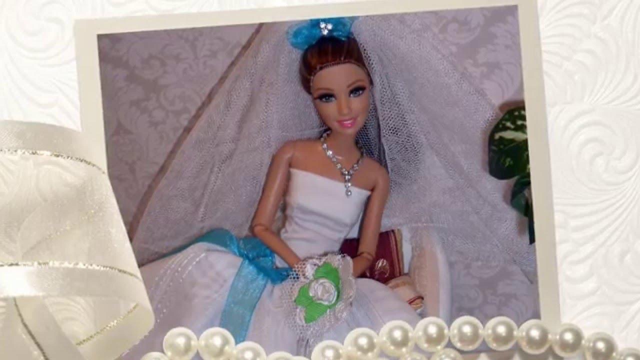 Платья для барби своими руками свадебные 47