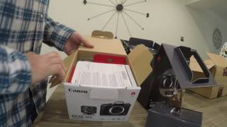 Canon EOS M5 Get Started Kit Unboxing