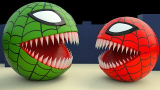 Spider Pacman Vs Red Monster Pacman Part 2