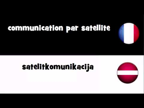 TRADUCTION EN 20 LANGUES = communication par satellite