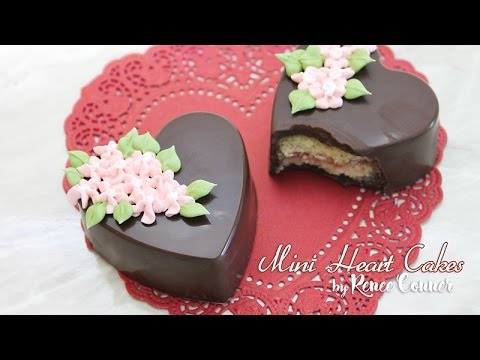 Chocolate Covered Mini Heart Cakes | Renee Conner