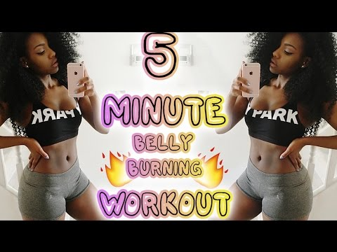 5 Minute Belly Fat Burning Workout | Scola Dondo