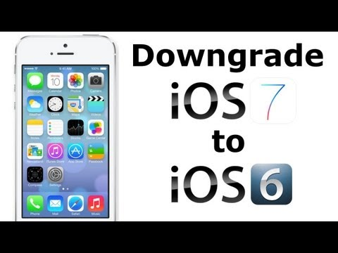 Downgrade da iOS 7 a iOS 6.1.4/6.1.3 iPhone 5/4S/4 iPod Touch 5G