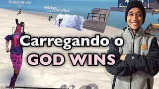 JOGUEI NO SQUAD DO GOD WINS MEU ARCO RIVAL!