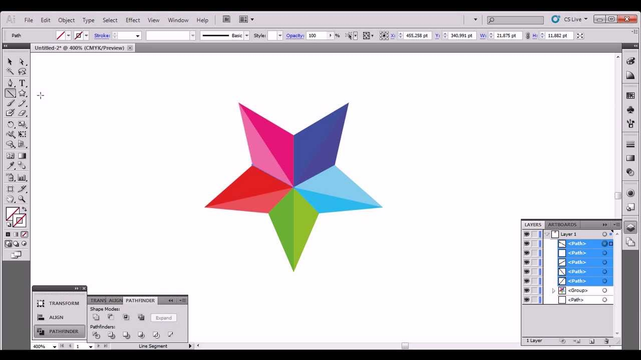 star logo tutorial (illustrator cs5) - YouTube