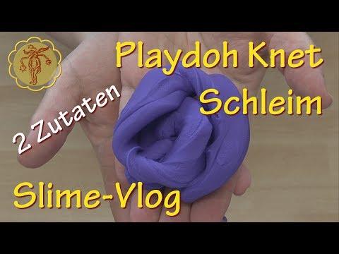Slime-Vlog: Playdoh Knet-Schleim - nur 2 Zutaten - ohne: Kleber, Kontaktlinsenlösung, Natron