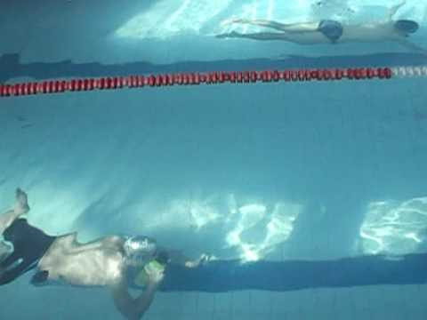 Lifeguard underwater training with spare air