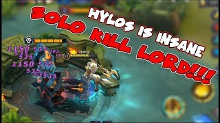 NEW HERO HYLOS CAN SOLO LORD | AMAZING TANK DAMAGE | Mobile Legends