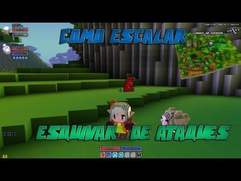 Como Escalar e Esquivar/Desviar de Ataques  no Cube World