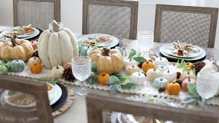 How to Decorate Your Dining Room for Fall | Home Tour