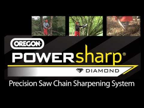 PowerSharp system from OREGON - Sharpen PowerSharp chain in seconds