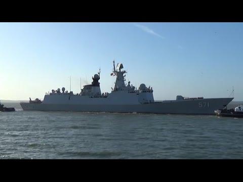 Визит китайского УДК проекта 071 в Портсмут