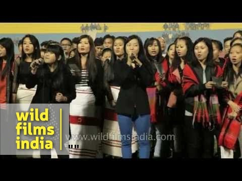 Combibe choir group from Northeast India sings 'Go Light Your World' in Delhi