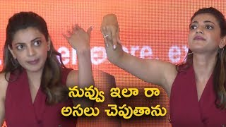 Kajal Making Fun of Media Silly Questions @Happi Mobiles Press Meet