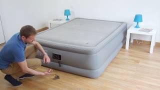 Matelas gonflable électrique Intex Foam Top Bed Fiber Tech 2 places - 64468