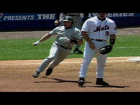 7/8/00: Todd Zeile is called for obstruction on Chuck Knoblauch on the game's first pitch and Bobby Valentine gets ejected after arguing Check out http://MLB.com/video for more! About MLB.com:...