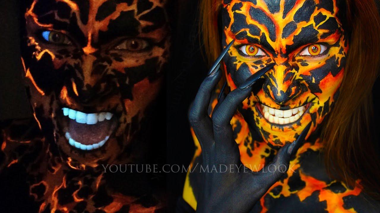 Seven deadly sins makeup tutorial wrath lava makeup youtube