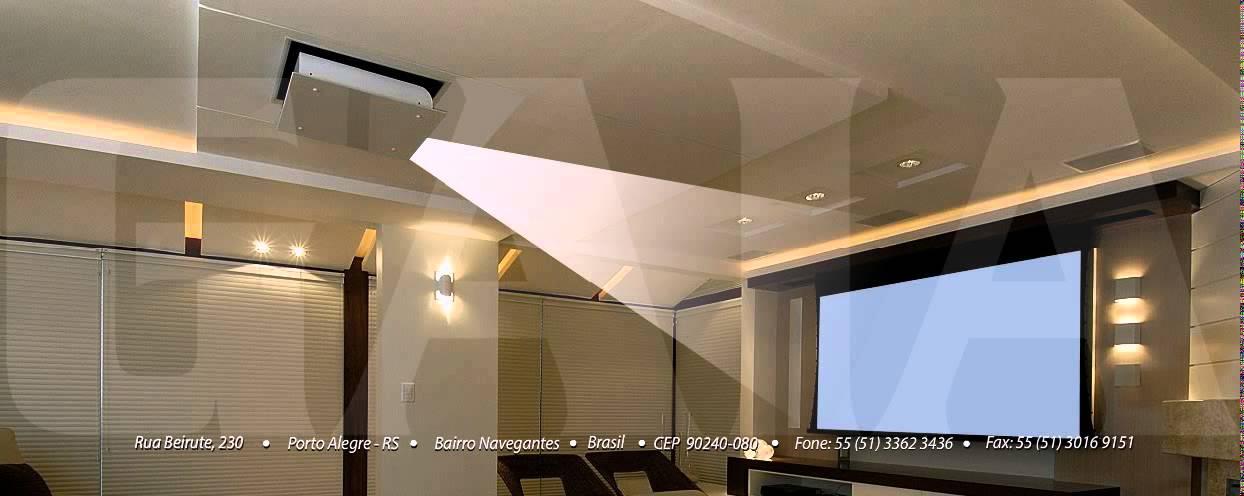Gaia ind stria lift de teto para projetor youtube - Telas de tapicerias para sofas ...