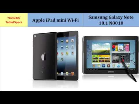 Apple iPad mini Wi-Fi OR Samsung Galaxy Note 10.1 N8010, main differences, specs