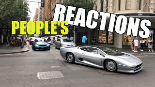 Jaguar XJ220 - People's Reactions in Sydney CBD in Australia