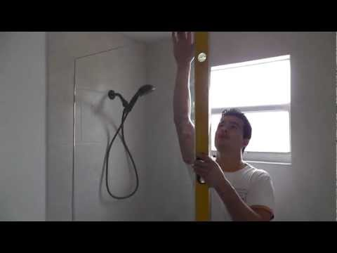 how to install a frameless shower glass door