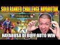 CHALLENGE SOLO RANKED HAYABUSA DI BUFF?? AUTO WIN HAHAHA - Mobile Legend Bang Bang thumbnail