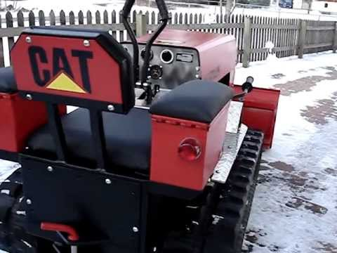 Mini Dozer. Homemade. Eigenbau. walk around. Tracked Vehicle