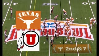 Utah vs Texas Football Bowl Game 12 31 2019