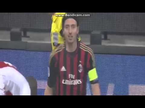 Ricardo Montolivo Red Card AC Milan vs Ajax Amsterdam HD 11.12.2013.