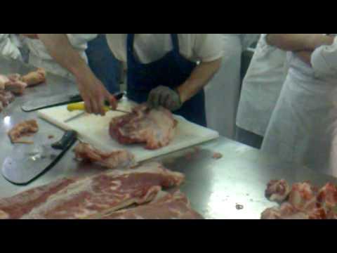 partes del cerdo en  el despieze