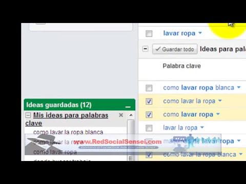 Tutorial Como Usar Google Adwords Keyword Tool - Herramienta para Palabras Clave en 8min