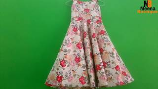 UMBRELLA FROCK CUTTING AND STITCHING IN HINDI // KIDS LONG GOWN