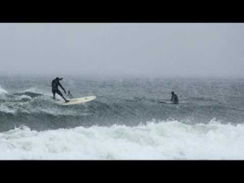 Snowy conditions and bitter temperatures don't stop these surfers from catching waves on Lake Superior, the best of the Great Lakes! Read more at http://wfxd...