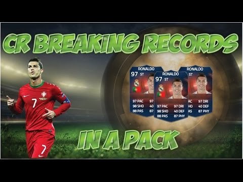 FIFA 15 - CRISTIANO RONALDO BREAKING RECORDS (97 RATED) IN A PACK !!!!!