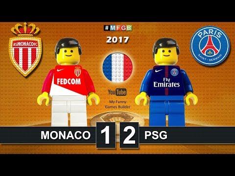 French Super Cup 2017 • Monaco vs PSG Paris Saint-Germain 1-2 • goal highlights Lego Football film