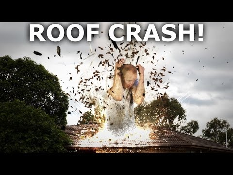 Roof Crash Destruction VFX Tutorial - Adobe After Effects & Cinema 4D