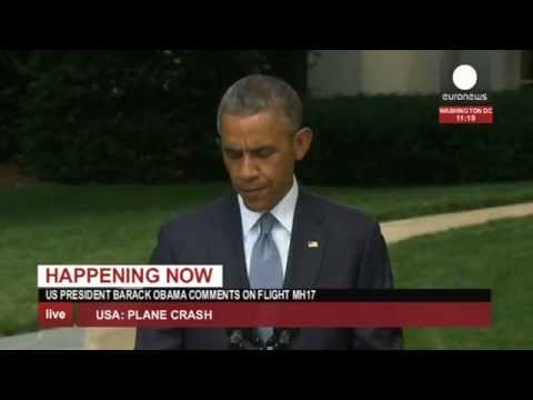 Barack Obama s'exprime sur la situation à Gaza et sur le crash du vol MH17 - direct enregistré