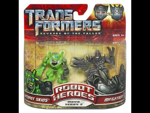 Transformers ROTF Robot Heroes Skids and Megatron Review