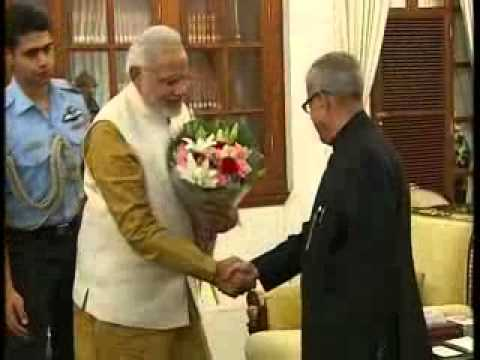 Narendra Modi meet President Pranab Mukherjee
