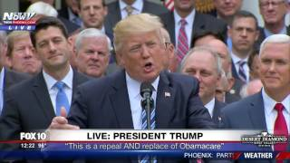 FULL SPEECH: President Trump On Historic House Obamacare Repeal (FNN)