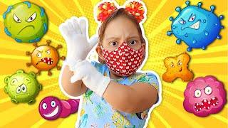 Maria Clara e história infantil sobre vírus malvado | детские истории про вирусы - MC Divertida