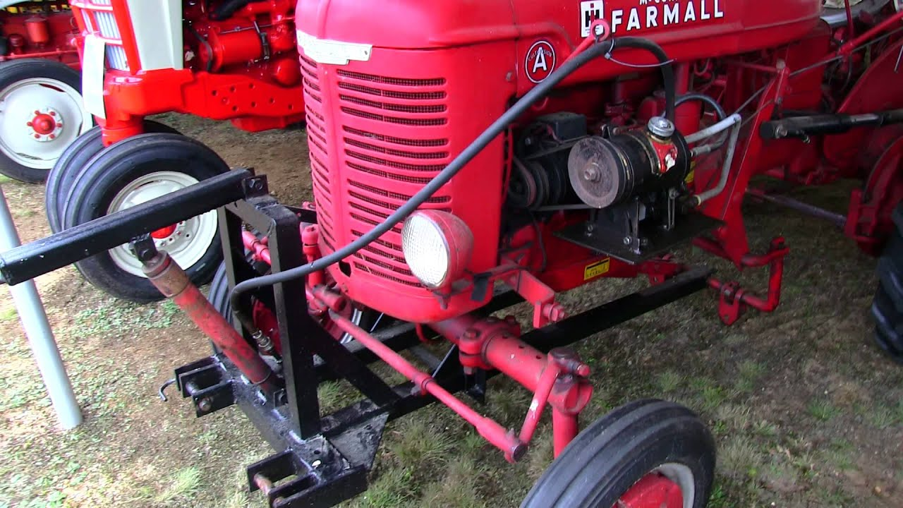 Hrdraulic Tractor Lift : Farmall a with hydraulic lift antique tractor at deerfield