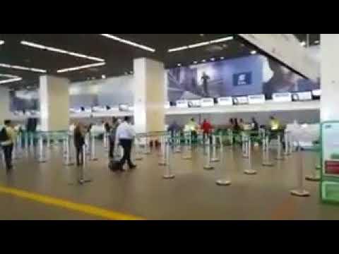 Bombeiro surta e agride PM ao perder voo no aeroporto de Brasília