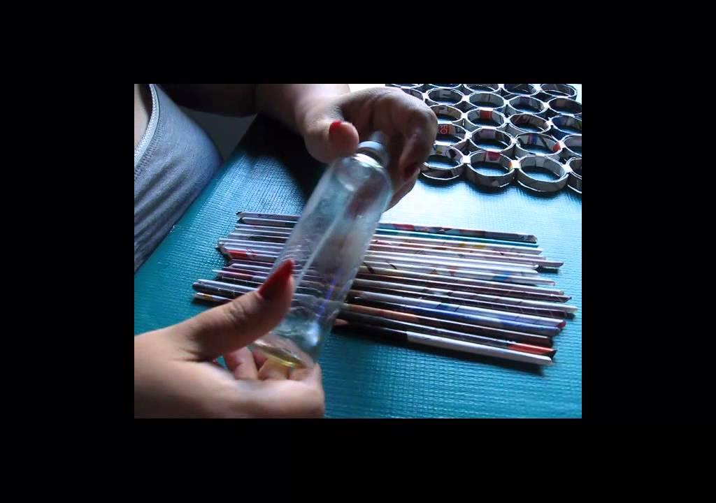 Diy como hacer tapetes para mesa de papel reciclado for Como construir piletas de material