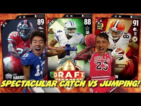 OBJ CATCH VS JUMPMAN DRAFT(SPEC CATCH VS JUMPING)  RAZOR CLOSE GAME! MADDEN 17 DRAFT CHAMPIONS