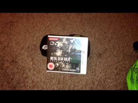 Nostalgamer Unboxes Metal Gear Solid 3D Snake Eater On Nintendo 3DS Part 1 Of 3