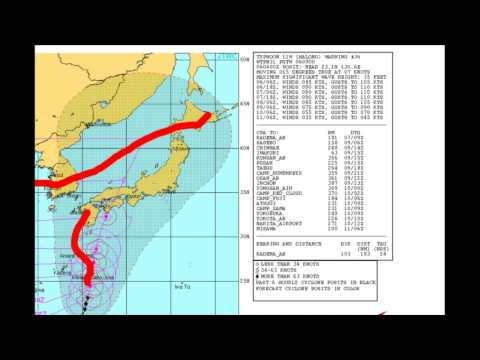Typhoon Halong a Major Flood Threat in Japan