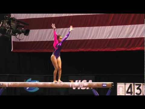 Brianna Brown -- Balance Beam -- 2012 Visa Championships -- Sr. Women -- Day 2