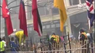 Теракт в Бостоне - съемки очевидца / Terrorist attack in Boston 15.04.2013